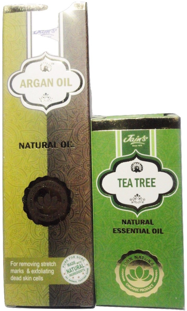 Jains Argan and Tea Tree Natural Essential Oil(110 ml)