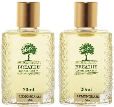 Breathe Aromatherapy Lemongrass Oil(Pack Of 2)