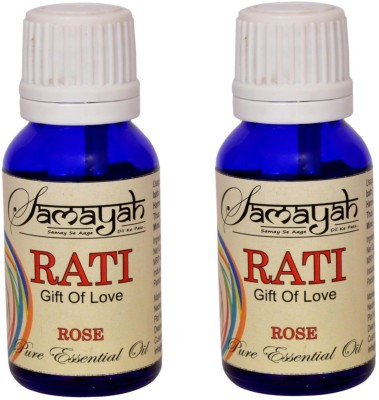 Samayah Hand Made Aroma Oils Rati (Rose) Set of 2