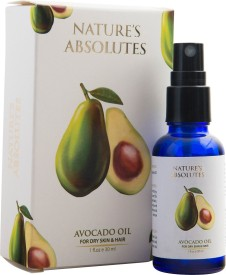 Nature's Absolutes Pure Avocado Oil Cold pressed & Organic - 30 ml - Deep Tissue Moisturizer for Hair, Face & Skin(30 ml)