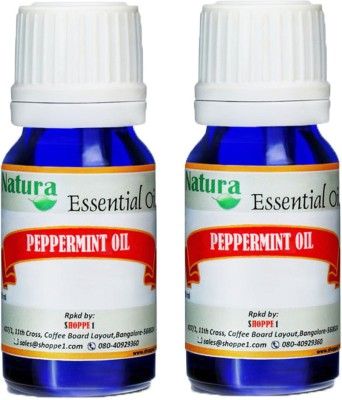 Natura Peppermint (Mentha Piperata) Natural Essential Oil pack of 2