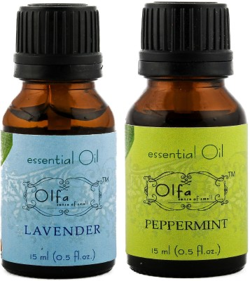 Olfa Lavender Essential Oil & Peppermint Essential Oil Combo(Pack Of 2) 15ml+15ml