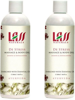 Lass Naturals Lass Naturals LASS DE-STRESS MASSAGE OIL Combo ( Set of 2 )