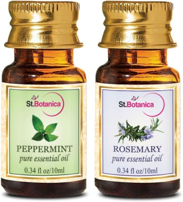 StBotanica Rosemarry + Peppermint Pure Essential Oil (10ml Each)
