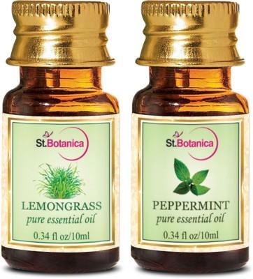 StBotanica Lemongrass + Peppermint Pure Essential Oil (10ml Each)