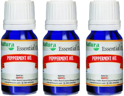 Natura Peppermint (Mentha Piperata) Natural Essential Oil pack of 3