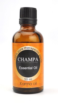 Karmakara 100% pure Therapeutic Grade undiluted essential oils in 50 ml Bottles-Champa Aroma Oil