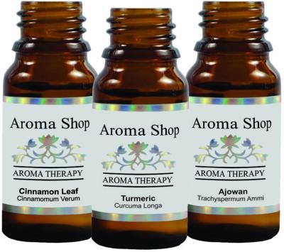 Rk's Aroma Cinnamon Leaf, Ajowan & Turmeric Essential Oil (pack of 3)