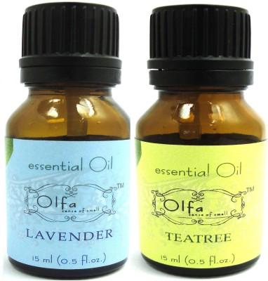 Olfa Lavender and Tea Tree Essential Oil Combo Pack (15ml + 15ml)