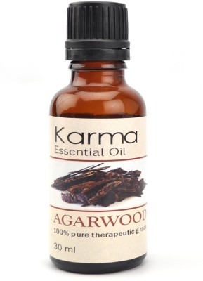 Karmakara 100% pure Therapeutic Grade undiluted essential oils in 30 ml Bottles-agarwood oil(30 ml)