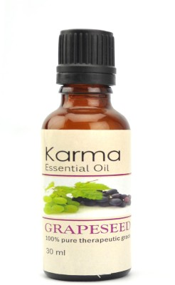 Karmakara 100% pure Therapeutic Grade undiluted essential oils in 30 ml Bottles-grapeseed oil