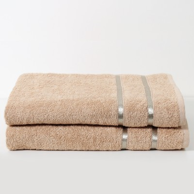 Story@home 2 Piece Cotton Bath Linen Set(Peach, Pack of 2)