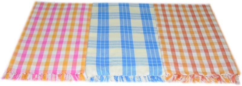 Tidy 3 Piece Cotton Bath Linen Set(Multicolor, Pack of 3)