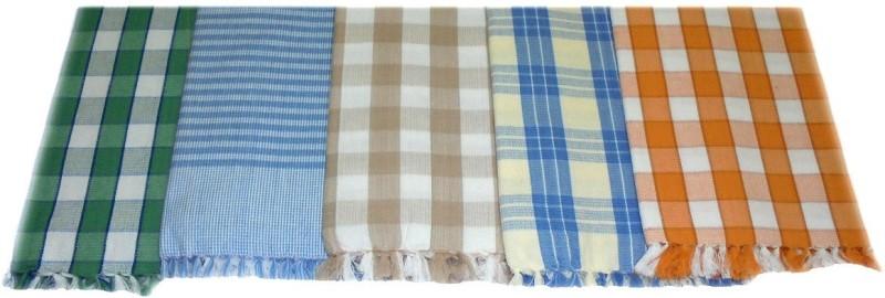 Tidy 5 Piece Cotton Bath Linen Set(Multicolor, Pack of 5)