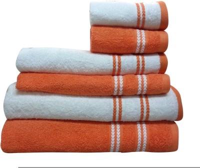 Spaces by Welspun 6 Piece Cotton Bath Linen Set(Multicolor, Pack of 6)
