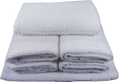 SSS IMPRESSIONS 6 Piece Bath Linen Set(White, Pack of 6)