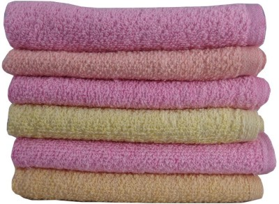 SSS IMPRESSIONS 6 Piece Cotton Bath Linen Set(Multicolor, Pack of 6)