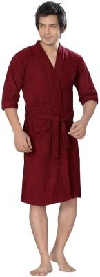 Superior Maroon Free Size Bath Robe