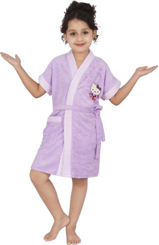 Superior Lavender Small Bath Robe(Bath Robe, For: Girls, Lavender)