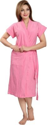 Be You Pink Free Size Bath Robe(1 Bathrobe, For: Women, Pink)