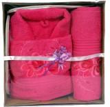 Zasmina Pink Free Size Bath Robe (bath r...