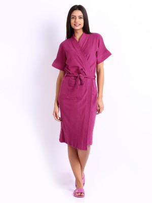 Be You Magenta Free Size Bath Robe(1 Bathrobe, For: Women, Magenta)