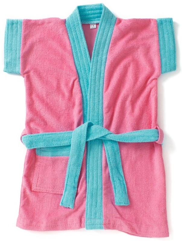 Pebbles Pink, Blue Free Size Bath Robe(1 Bath Robe, For:...