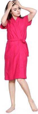 Be You Rani Pink Free Size Bath Robe(1 Bathrobe, For: Women, Rani Pink)