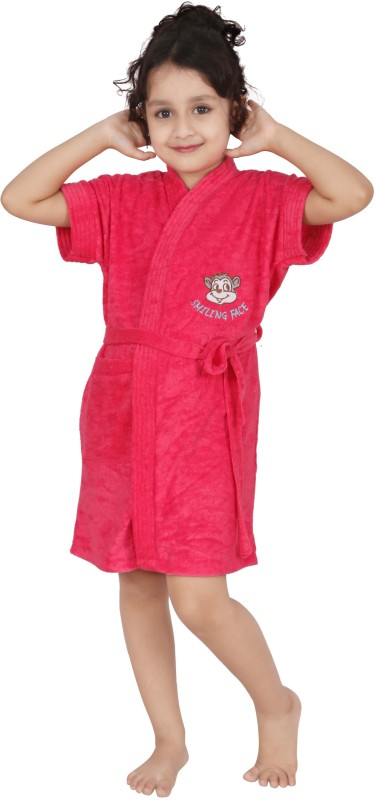 Superior Pink Small Bath Robe(Bath Robe, For: Girls, Pink)