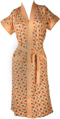 Vardhaman Goodwill Orange Free Size Bath Robe