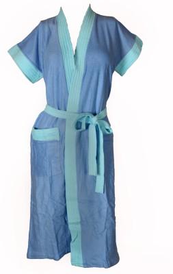 Vardhaman Goodwill Blue Free Size Bath Robe
