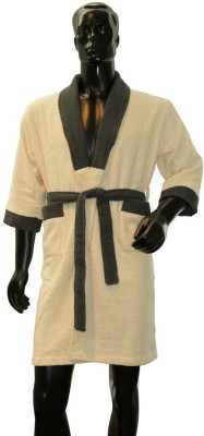 Welhome by Welspun Beige Medium Bath Robe