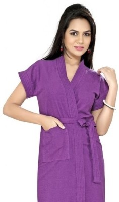 Superior Purple Free Size Bath Robe
