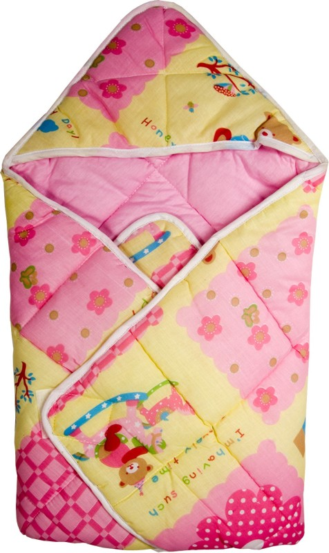 Love Baby Pink Medium Bath Robe(1, For: Baby Boys & Baby Girls, Pink)