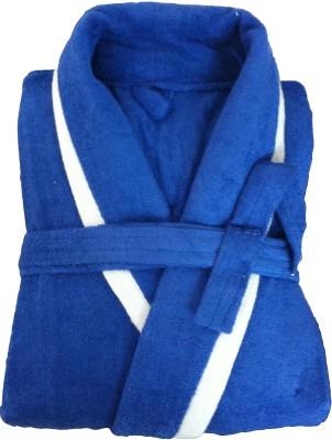 CKT Blue Free Size Bath Robe(Bath Robe, For: Men, Blue)