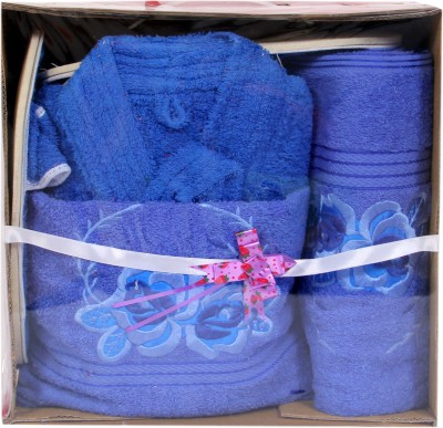 zasmina Blue Free Size Bath Robe