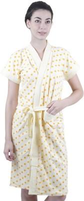 Sree Lakshmi,s LemonYellow Free Size Bath Robe