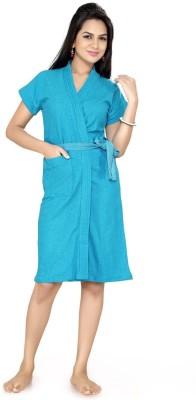 Be You Turqoise Blue XXL Bath Robe(1 Bathrobe with belt, For: Women, Turqoise Blue)