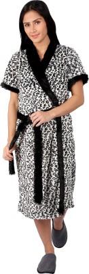 Vixenwrap Black, White Free Size Bath Robe