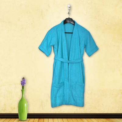 Skumars Love Touch Blue Large Bath Robe