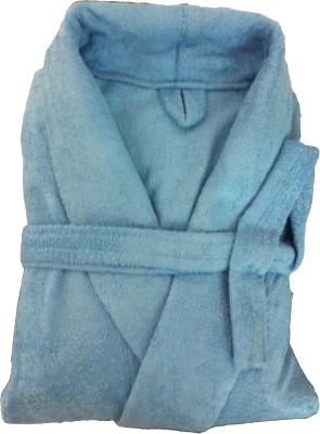CKT Blue Free Size Bath Robe