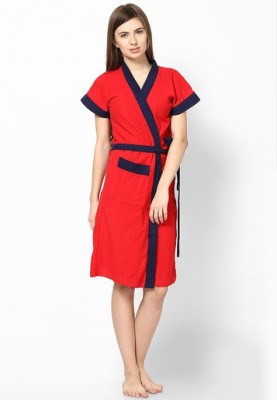 Superior Red, Blue Free Size Bath Robe
