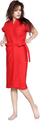 Be You Red Free Size Bath Robe(1 Bathrobe, For: Women, Red)