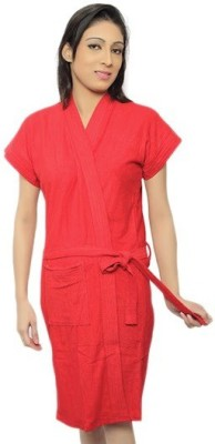Superior Red Free Size Bath Robe
