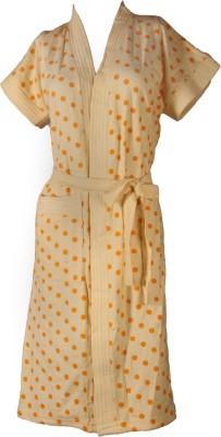 Vardhaman Goodwill Yellow Free Size Bath Robe