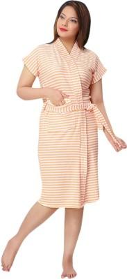 Besty Orange Free Size Bath Robe(Bath robe, For: Women, Orange)