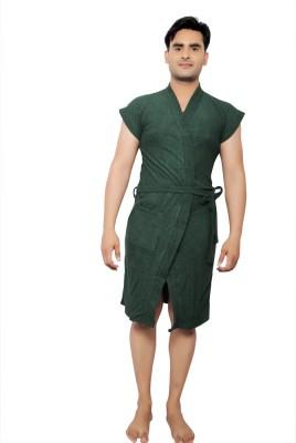 VeenaDdesigner Green Free Size Bath Robe