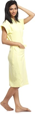 Superior Yellow Free Size Bath Robe