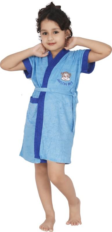 Superior Dark Blue Small Bath Robe(Bath Robe, For: Boys, Dark Blue)