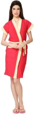 Superior Gajri Red Free Size Bath Robe